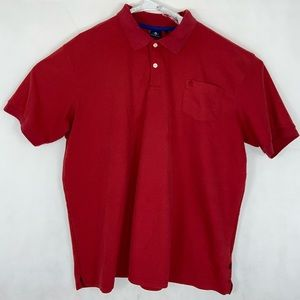 B.B. Lion Jeans Red Button Polo Short Sleeve XXL